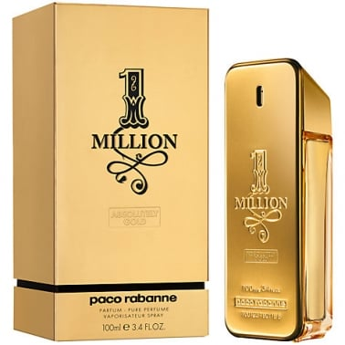 Paco Rabanne One Million - 100ml Absolutely Gold Pure Parfum Spray.