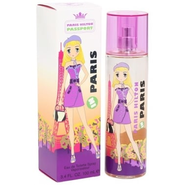 Paris Hilton Passport In Paris- 100ml Eau De Toilette Spray.