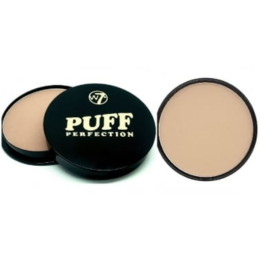 W7 Cosmetics Puff Perfection All In One Cream Powder Compact - Medium Beige.