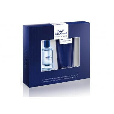 David Beckham Classic Blue - 40ml Gift Set With Shower Gel.