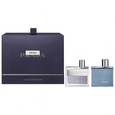 Prada Amber Pour Homme - 50ml Gift Set With 100ml Shower Gel.