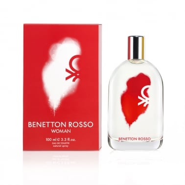 Benetton Rosso Women - 100ml Eau De Toilette Spray.