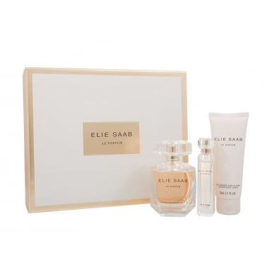 Elie Saab Le Parfum 90ml Perfume Gift Set With 75ml Body Lotion, 10ml EDP Spray