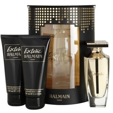 Balmain Extatic - 90ml Perfume Gift Set With 100ml Body Lotion, 100ml Shower Cre
