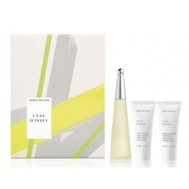 Issey Miyake L'Eau d'Issey 50ml Gift Set With 50ml Body Lotion,  50ml Shower Cre