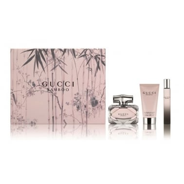 Gucci Bamboo - 50ml Perfume Gift Set With 50ml Perfumed Body Lotion, 7ml Roller