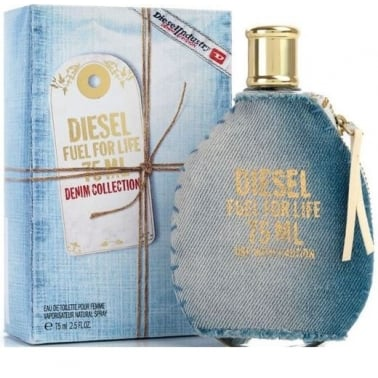 Diesel For Life Denim Collection Femme - 75ml Eau De Toilette Spray.