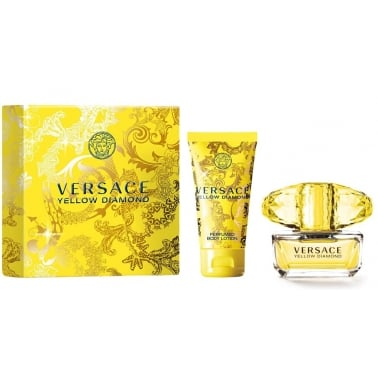 Versace Yellow Diamond - 30ml EDT Gift Set With 50ml Perfumed Body Lotion.