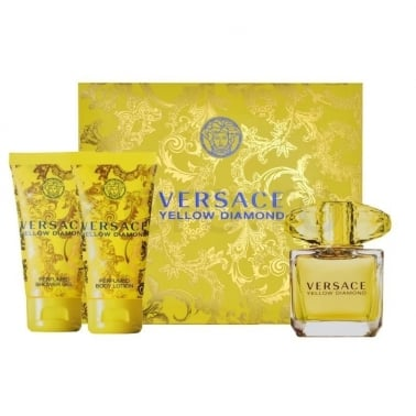 Versace Yellow Diamond - 90ml EDT Gift Set With 100ml Perfumed Body Lotion