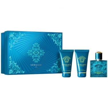 Versace Eros Pour Homme - 50ml EDT Gift Set With 50ml Shower Gel and Balm