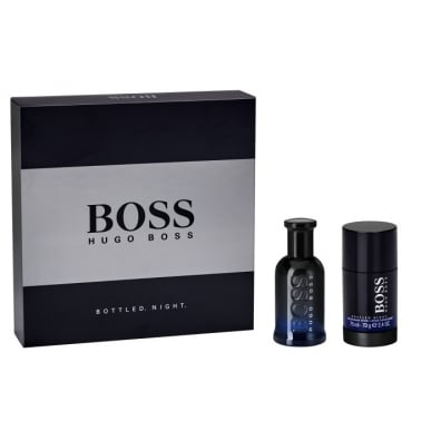 Hugo Boss Bottled Night - 50ml EDT Gift Set With 75ml Deodorant Stick.