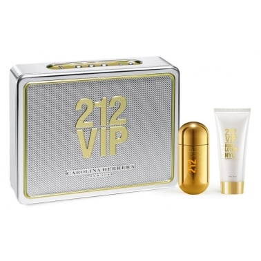 Carolina Herrera 212 VIP - 50ml EDP Gift Set With 75ml Body Lotion.
