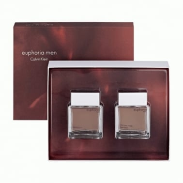 Calvin Klein Euphoria For Men - 100ml Gift Set With 100ml EDT Spray, 100ml After