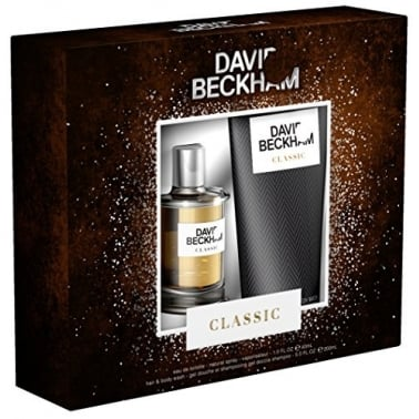 David Beckham Classic - 40ml EDT Gift Set With 200ml Hair & Body Wash.
