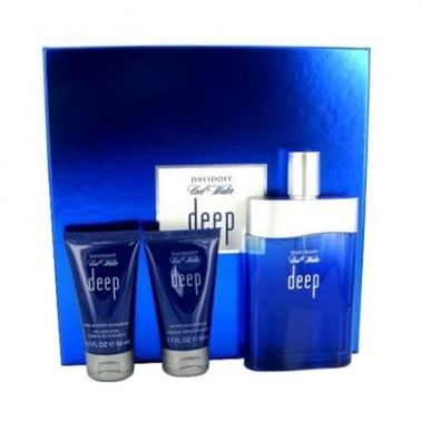 Davidoff Cool Water Deep For Men - 50ml EDT Gift Set With 75ml Shower gel.