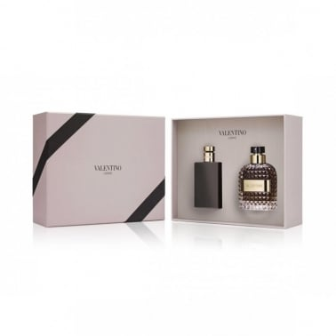 Valentino Uomo - 100ml EDT Gift Set With 100ml Aftershave Balm.