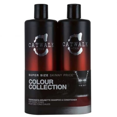 Tigi Catwalk Fashionista Brunette Shampoo and Conditioner Tween Duo 2 x 750ml.