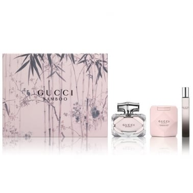 Gucci Bamboo - 75ml EDP Gift Set With Body Lotion and Rollerball