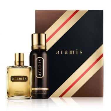 Aramis Classic For Men - 120ml Aftershave Gift Set With 200ml Deodorant Spray.