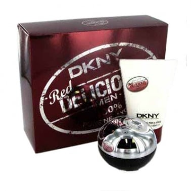 DKNY Be Delicious Red For Men - 50ml EDT Gift Set With Shower Gel.