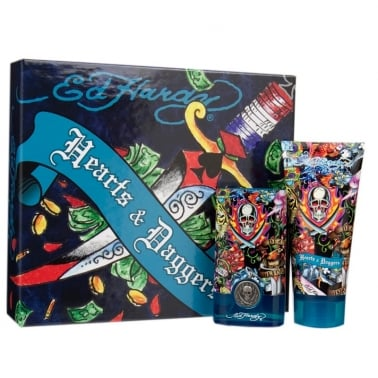 Ed Hardy Hearts & Daggers For Men - 30ml EDT Gift Set With 90ml Shower gel.