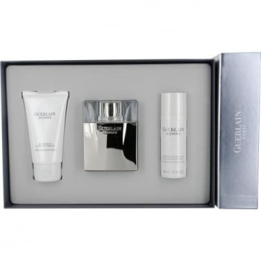 Guerlain Pour Homme - 90ml EDT Gift Set With Deodorant, DAMAGED BOX.