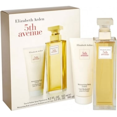 Elizabeth Arden 5th Avenue - 125ml Perfume Gift Set and 100ml Body Lotion.