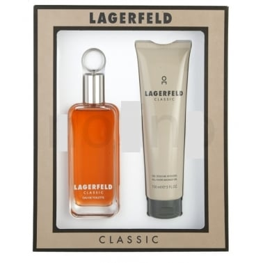 Karl Lagerfeld Classic for Men - 100ml EDT Gift Set, DAMAGED BOX.