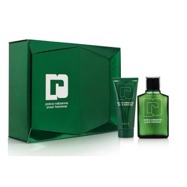 Paco Rabanne Pour Homme - 100ml EDT Gift Set With 100ml Shower Gel.