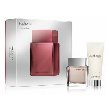 Calvin Klein Euphoria For Men - 50ml EDT Gift Set With 100ml Shower Gel, DAMAGED