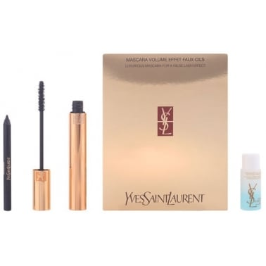Yves Saint Laurent Luxurious Mascara For A False Lash Effect Set With Liner
