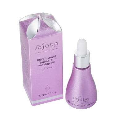 The Jojoba Company 100% Natural Jojoba and Rosehip Oil 30ml.
