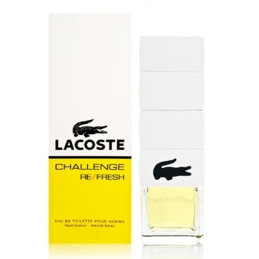 Lacoste Challenge Re/Fresh Pour Homme - 90ml Eau De Toilette Spray.