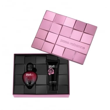 Paco Rabanne Black XS Pour Elle - 50ml Gift Set With 100ml Sensual Body Lotion.