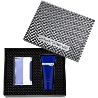 Paco Rabanne Ultraviolet Man - 50ml EDT Gift Set With Shower Gel.