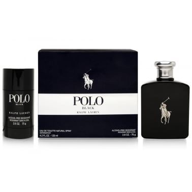 Ralph Lauren Polo Black - 125ml Gift set and 75ml Deodorant Stick.