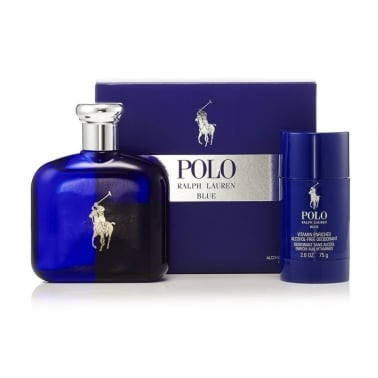 Ralph Lauren Polo Blue - 125ml EDT Gift Set With 75ml Deodorant Stick.