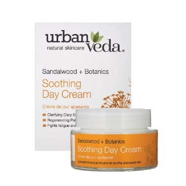 Urban Veda Natural Skincare Sandalwood + Botanics - 50ml Soothing Day Cream.