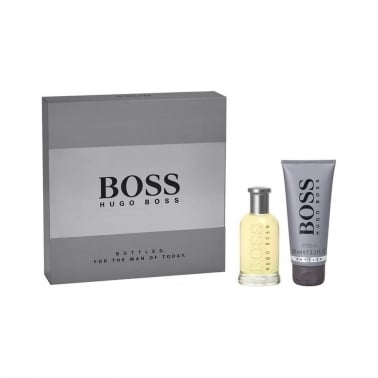 Hugo Boss Bottled - 100ml Gift Set With 75ml Aftershave Balm and 50ml Shower Gel
