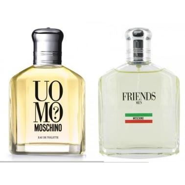Moschino Uomo + Friends Duo Gift Set - 2 x 40ml Eau De Toilette Spray.