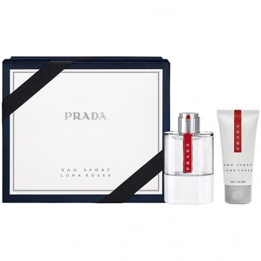 Prada Luna Rossa Eau Sport Homme - 75ml Edt Gift Set With 75ml Shower Gel.