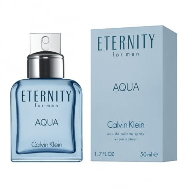 Calvin Klein Eternity Aqua For Men - 100ml EDT Spray + FREE Hair & Body Wash.