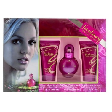 Britney Spears Fantasy - 30ml EDP Gift Set With 50ml Body Lotion, Shower Gel.