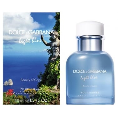 Dolce and Gabbana Light Blue Pour Homme Beauty of Capri - 40ml EDT Spray.