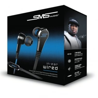 SMS Audio Street by 50 Cent SMS-EBV2-BLK-GP Shadow Black in Ear Earphones Wired