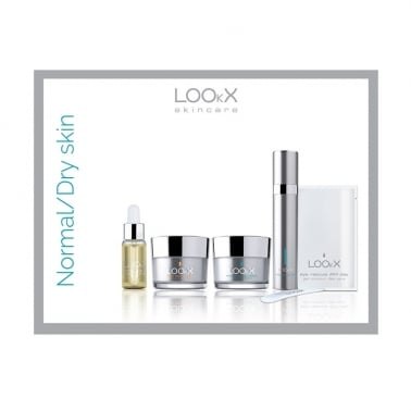 LOOkX Try Me Set Normal / Dry Skin Skincare 5 Piece Set.