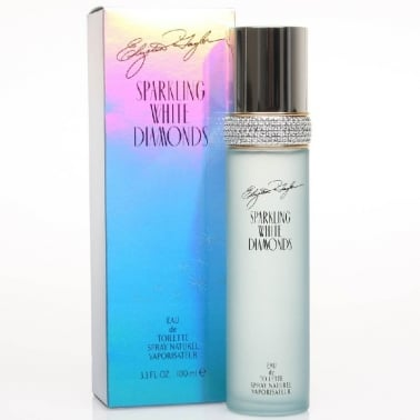 Elizabeth Taylor Sparkling White Diamonds - 100ml Eau De Toilette Spray.