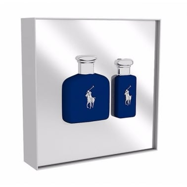 Ralph Lauren Polo Blue - 75ml EDT Gift Set With 30ml Travel Spray.
