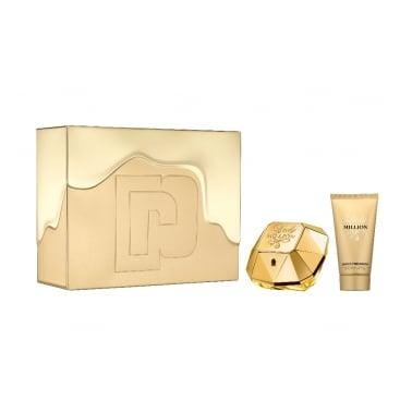 Paco Rabanne Lady Million - 50ml EDP Gift Set With 75ml Sensual Body Lotion.