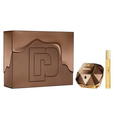 Paco Rabanne Lady Million Prive - 80ml EDP Gift Set With 10ml Travel Spray.